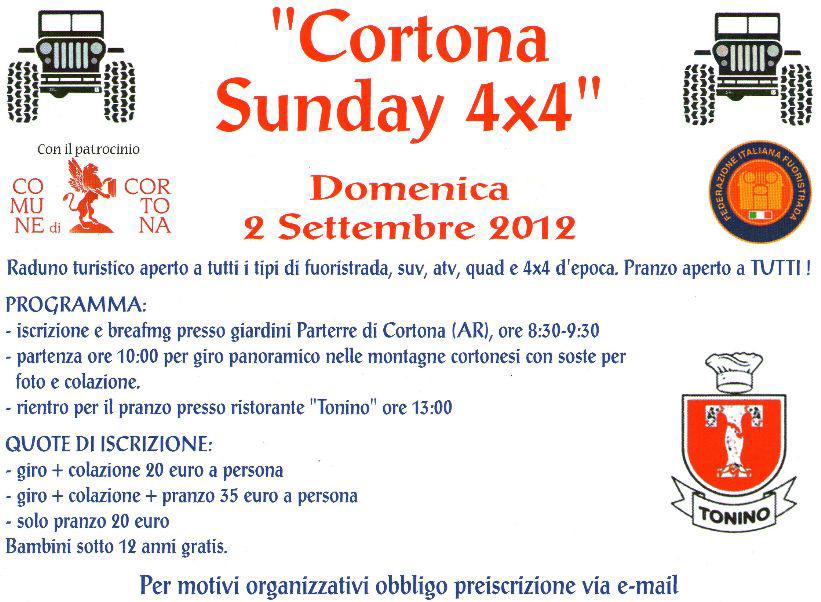 Cortona Sunday 4×4, raduno di fuoristrada d'epoca