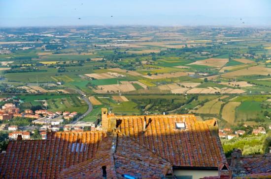 Paesaggio tipico della Valdichiana