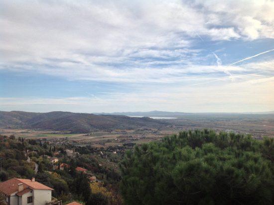 Veduta del Lago Trasimeno da Cortona