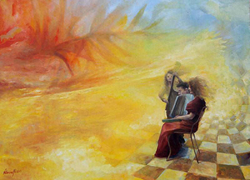 Il corso di pittura di Katarina Alivojvodic a Cortona