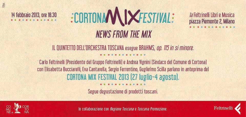 Anteprima a Milano del Cortona Mix Festival 2013