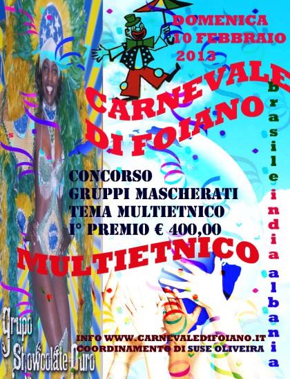 Il Carnevale di Foiano della Chiana Multietnico