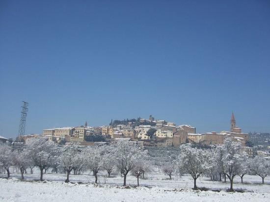 Castiglion Fiorentino sotto la neve.