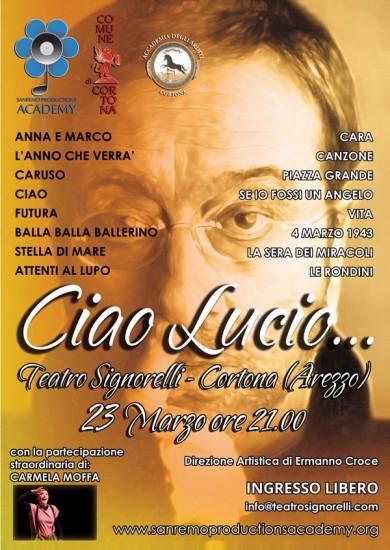 Ciao Lucio al Teatro Signorelli