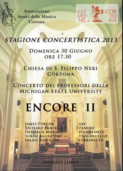 """Concerto """"Encore II"""" a Cortona"""