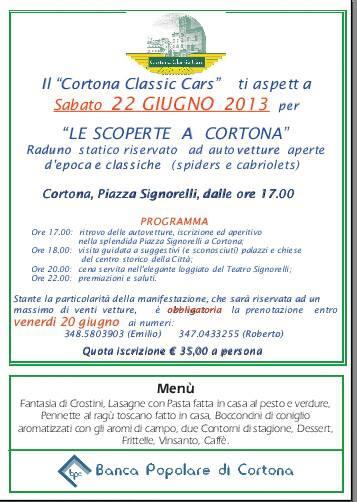Cortona Classic Cars 2013 in Piazza Signorelli