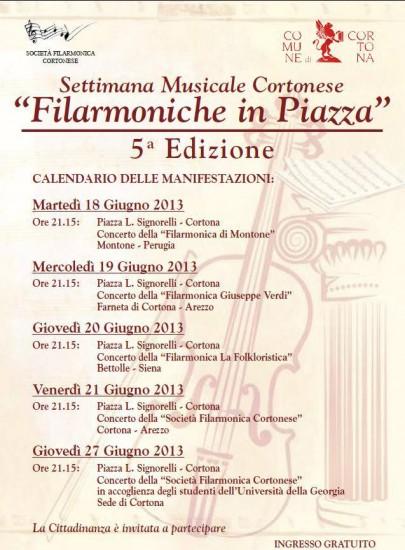 Programma di Filarmoniche in Piazza