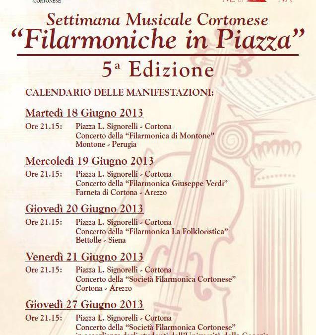 Quinta edizione di Filarmoniche in Piazza