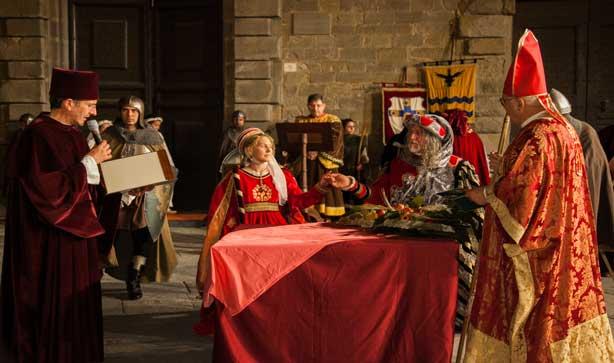 Rievocazione del matrimonio di Francesco Casali e Antonia Salimbeni