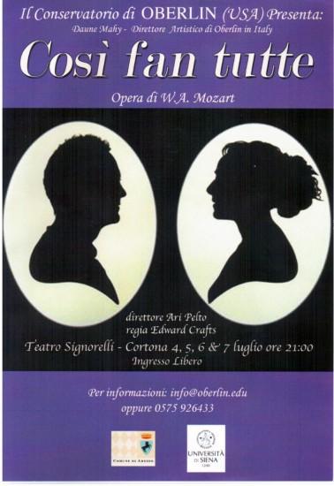 """Opera """"Così fan tutte"""" al Teatro Signorelli di Cortona"""