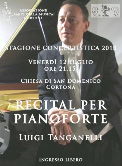 Recital per pianoforte di Luigi Tanganelli