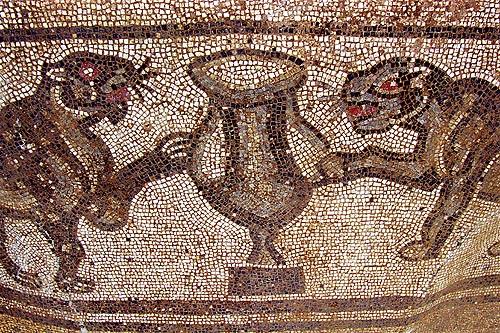 Mosaico al Parco Archeologico di Cortona