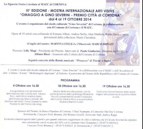 Premio Internazionale Arti Visive di Cortona.