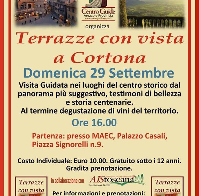 Terrazze con vista a Cortona, visita guidata nel centro storico