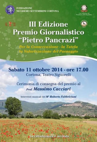 """Premio giornalistico """"Pietro Pancrazi"""""""
