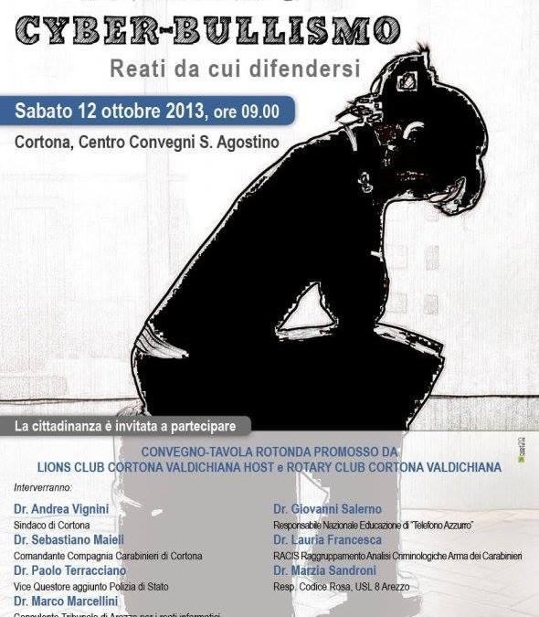 """Convegno """"Stalking e cyber-bullismo"""" al Centro Convegni Sant'Agostino"""