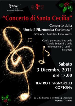 Concerto di Santa Cecilia al Teatro Signorelli