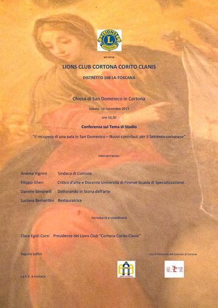 Conferenza del Lions Club Cortona Corito Clanis