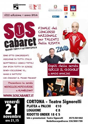 SOS Cabaret 2014 a Cortona