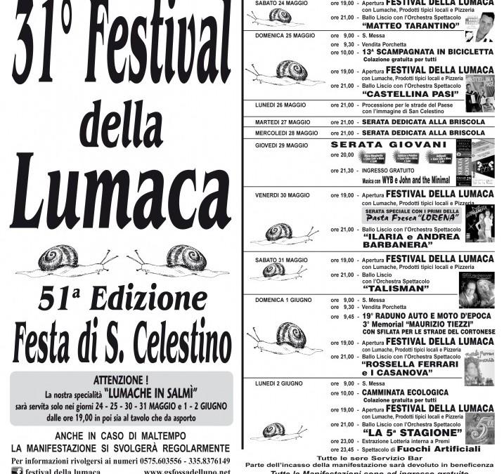 31ª edizione del Festival della Lumaca a Fossa del Lupo
