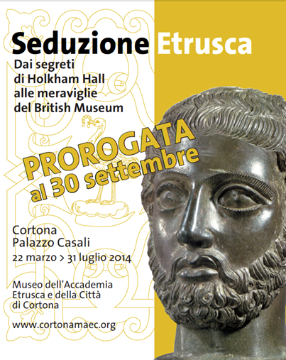 """Mostra """"Seduzione Etrusca"""" prorogata al 30 settembre"""