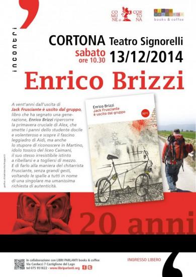 Incontro con Enrico Brizzi al Teatro Signorelli di Cortona