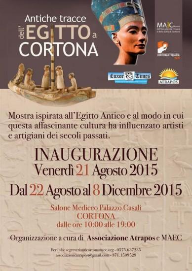 """Mostra """"Antiche Tracce dell'Egitto a Cortona"""""""