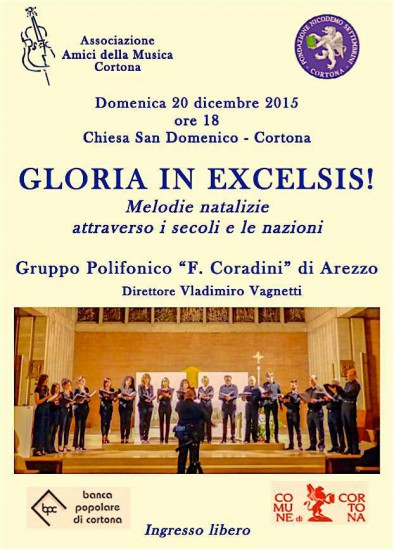 """Concerto """"Gloria in Excelsis"""" a Cortona"""