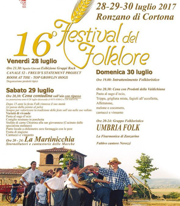 Festival del Folklore a Ronzano di Cortona